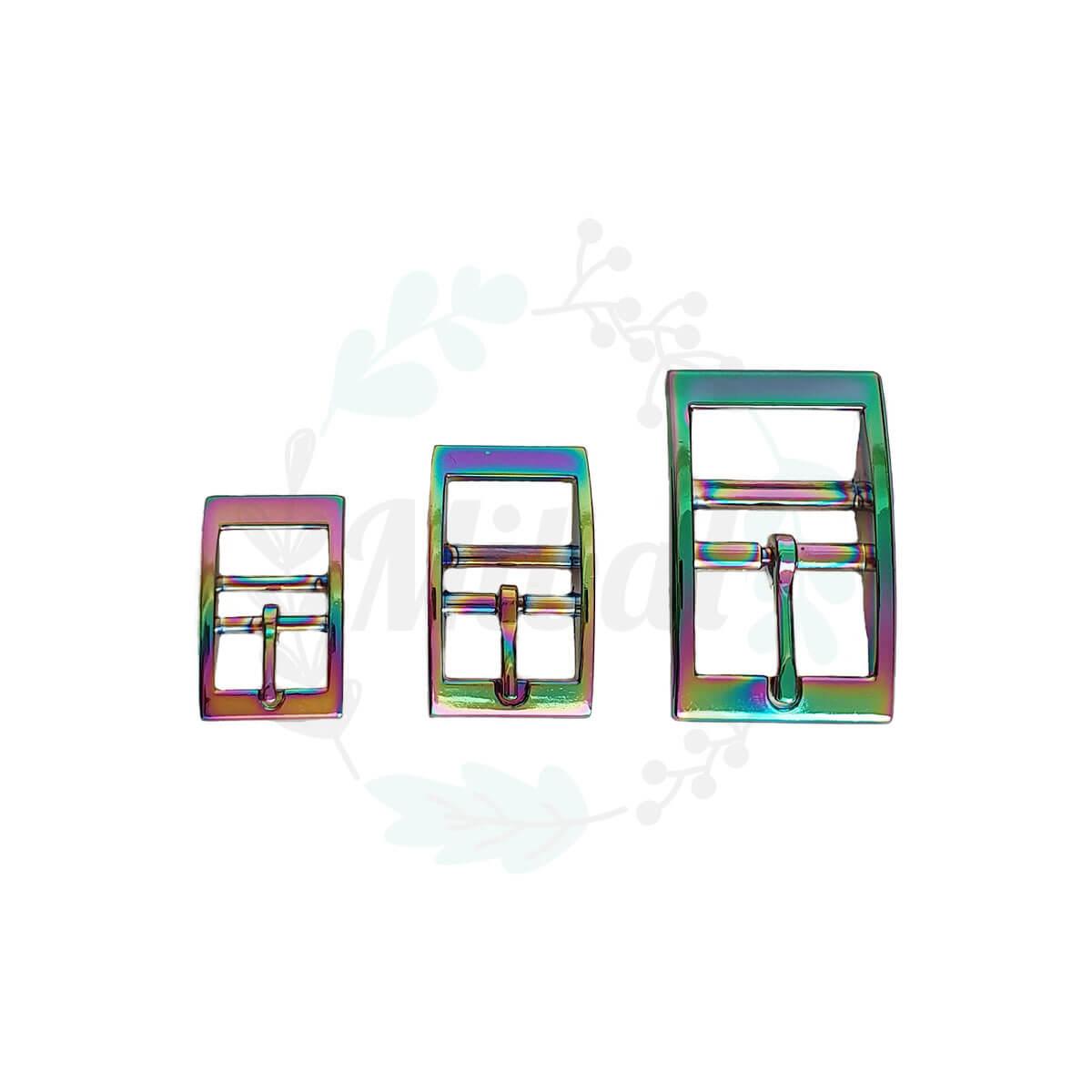 Doppelstegschnalle - Regenbogen