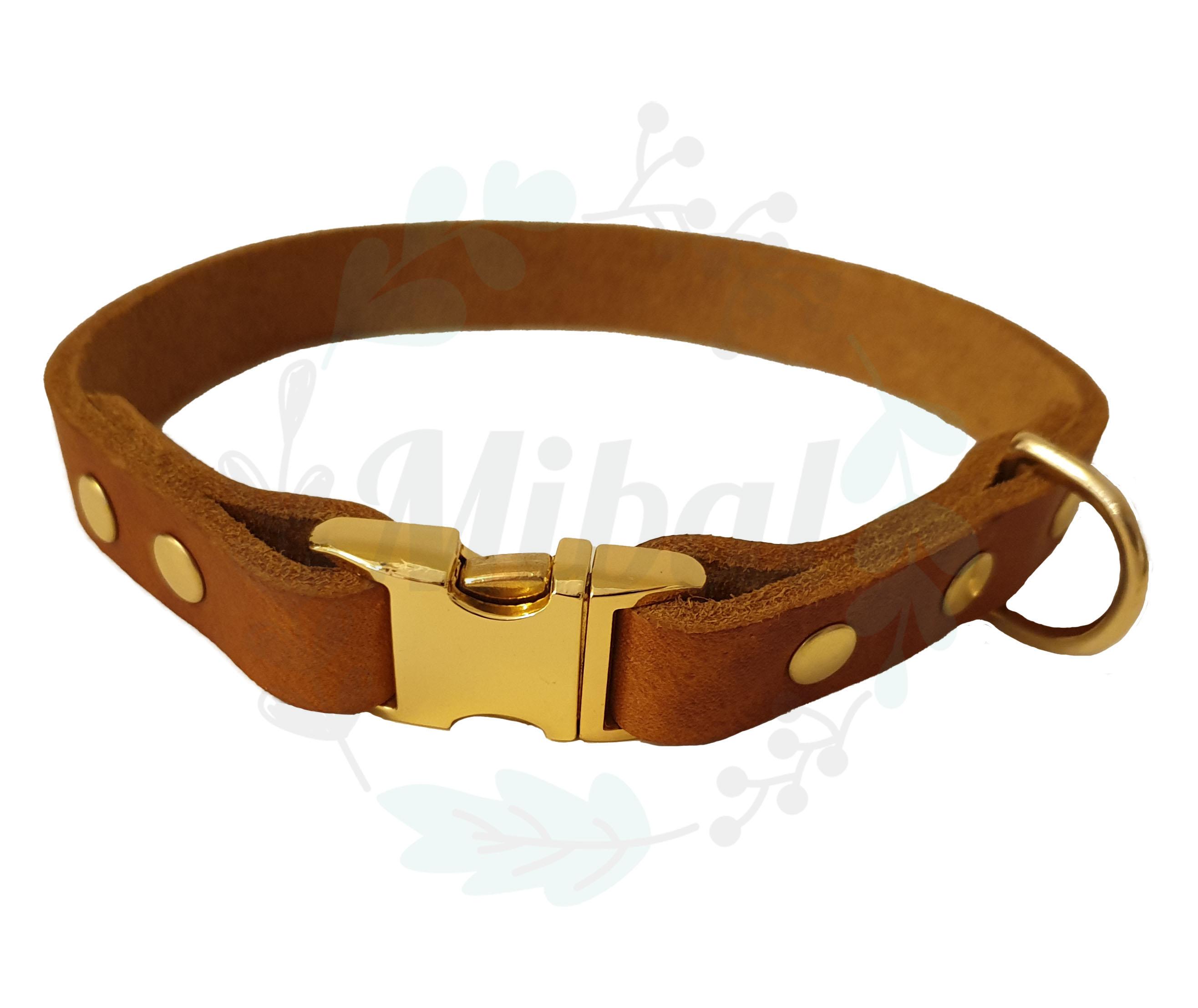 Fettleder Halsband mit Klickverschluss