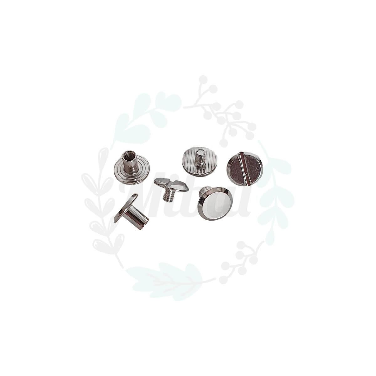 Buchschrauben - Silber